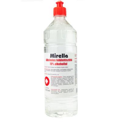 Mirella Felülettisztító folyadék 70% alkohollal 1L push-pull kupakos